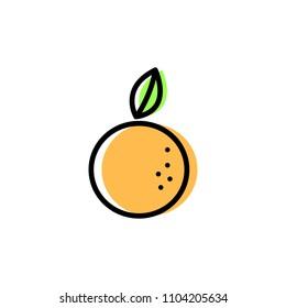 Abstract Orange, Icon Vector, Flat Design