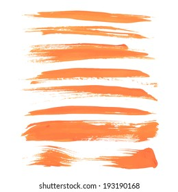 Abstract orange long strokes of paint