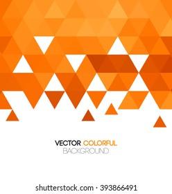 Abstract orange mosaic background. Vector illustration.