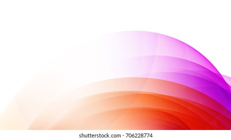 Abstract Orange and Purple gradient curve background
