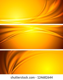 Abstract orange sunny banners. Vector background eps 10