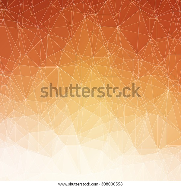 Abstract orange triangle background in autumn colors