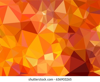 Abstract Orange triangle geometrical background. Vector illustration