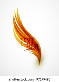 Abstract orange vector eps10 lines feather design background for your message