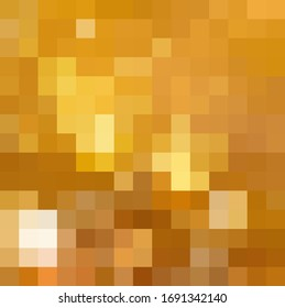 Abstract Orange and Yellow geometric Background, Creative Design Templates. Pixel art Grid Mosaic, 8 bit vector background.