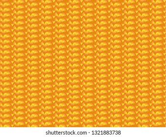 Abstract orange and yellow seamless triangular background. Vector illustration of geometric texture. Pattern for web, print, wallpaper, wrapping, textile design, background for invitation card
