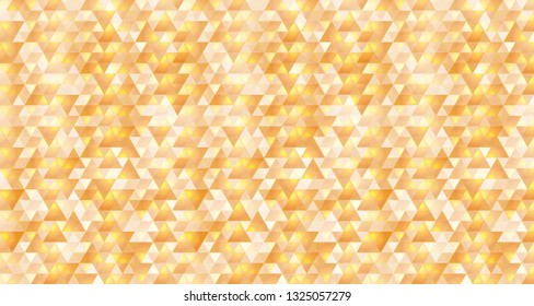 Abstract orange and yellow triangular background. Vector illustration of geometric texture. Pattern for web, print, wallpaper, wrapping, background for invitation card