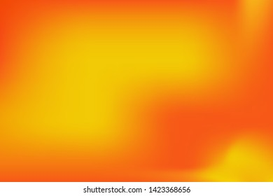 abstract orange yellow uneven color fields with color gradients, summery warm vector background