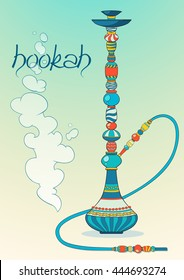Abstract  oriental Hookah coloring Art , Shisha (Vector Art)