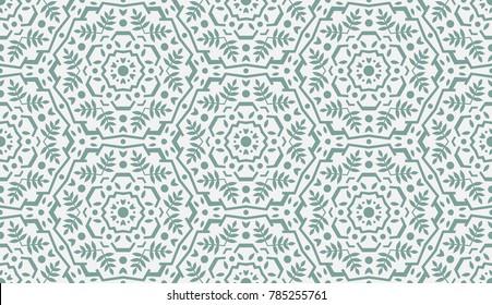 Abstract Oriental Pattern. Modern Shape. Endless Vector.