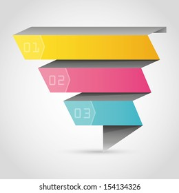 Abstract origami banner background