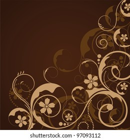an abstract ornament design in vintage style
