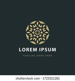 Abstract Ornament Flower Swirl Logo Design