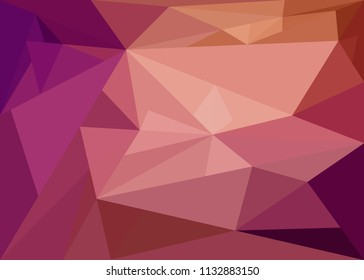abstract ornament lilac pink crystal with shades red violet and brown and imprints