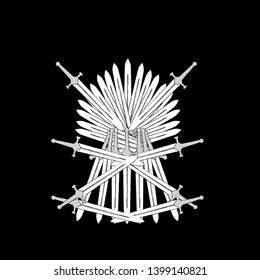 abstract ornament with sword form for game of throne background