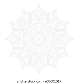 Abstract ornamental background, Can be used for coloring book page, Vector illustration
