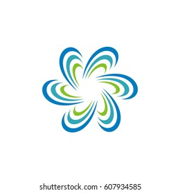Abstract ornamental flower logo template