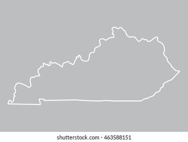 abstract outline of Kentucky map
