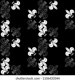 Abstract outline nature graphic pattern. Geometric ornament with flowers . Line art, with lace botanica, embroidery background. Bandanna, shawl, scarf, shirt,tablecloth design for textile fabric print