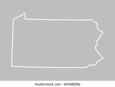 abstract outline of Pennsylvania map