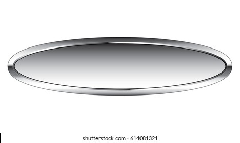 Abstract oval background with a silver frame, with space for your text. Vector illustration.