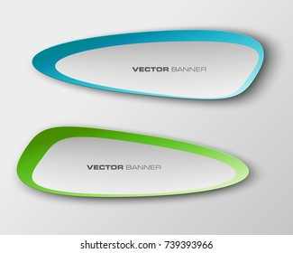 abstract oval banner set. The elliptical form as two advertising poster. The flat banner image. Advertising Design shape. label banner tag.
