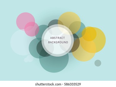 Abstract Overlapping Circles Background