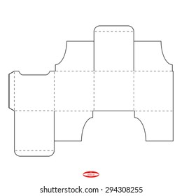 packaging square box lid template vector stock vector royalty free