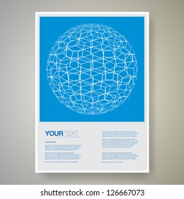 Abstract page layout design vector with your text