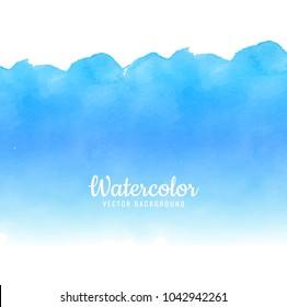 abstract paint brush blue watercolor design