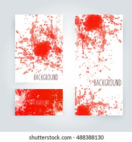 Abstract paint splashes set for design use. Splatter template set. Brushes vector illustration background.