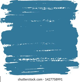 Abstract Painted back with brush strokes and isolated on white