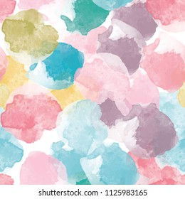 Abstract painting universal freehand watercolor seamless pattern. Graphic design for background, card, banner, poster, cover, invitation, placard, header or brochure. Hand drawn vector texture