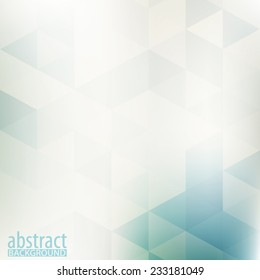 Abstract pale geometric pattern with triangles. Vector