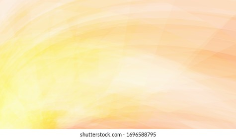 Abstract pale yellow and apricot orange color background. Textured vector graphic pattern