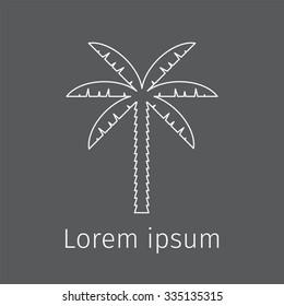Abstract palm vector logo template. Logo icon.