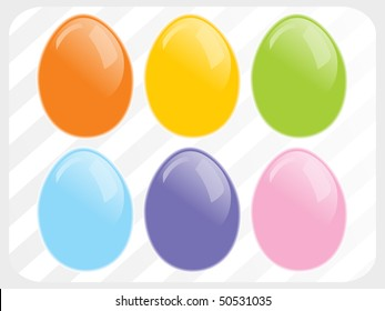 abstract panel lines background with colorful egg