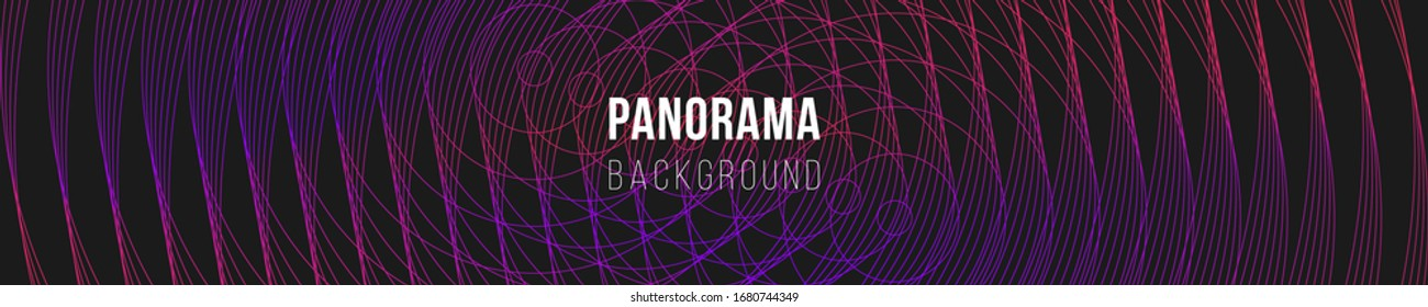 Abstract panorama illustration. Outline geometric ornament. Colorful creative stylish texture. Eps10 vector.