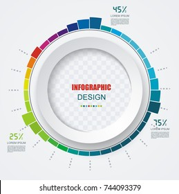 Abstract  paper circle infographics with options template. Can be used for diagram, data,  step options, banner, web design.