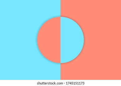 Abstract paper cut circle background