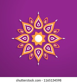 abstract paper cut design template, circle ornament with colorful concept vector eps 10