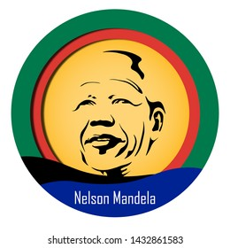 Abstract paper cut style for International Nelson Mandela Day with South Africa Flag colour. - Vector