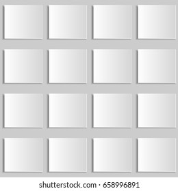 Abstract paper design background. White texture with shadow. Geometric structure.
