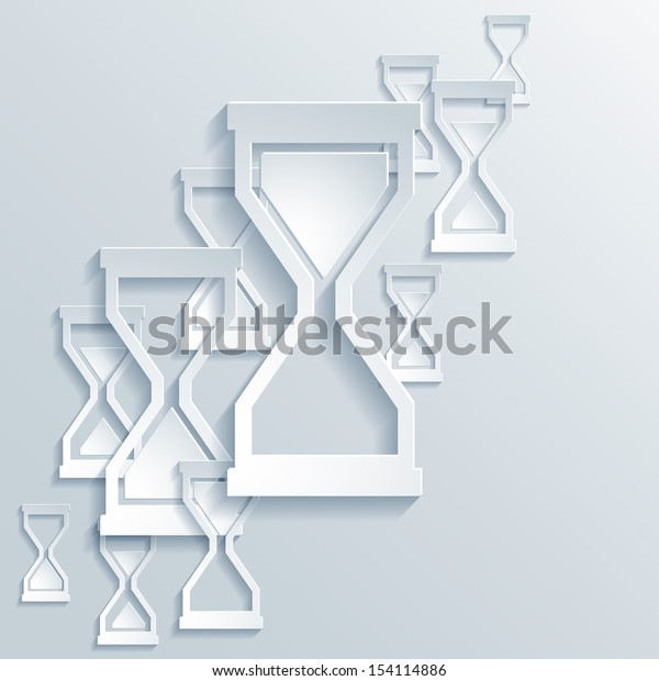 Abstract Paper Graphics of Hourglass