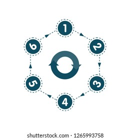 Abstract paper infografics in a circle shape. Vector eps10 illustration.