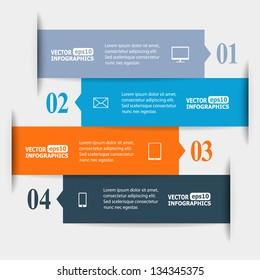 Abstract paper infografics. Vector eps10 illustration