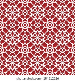 Abstract paper lace texture, vector seamless pattern, eps10
