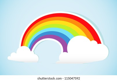 Abstract paper rainbow. Vector illustration.