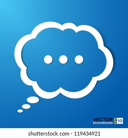 Abstract paper speech bubble background.EPS10