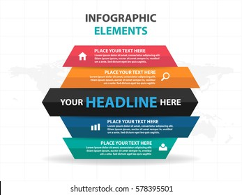 Abstract part of hexagon business Infographics elements, presentation template flat design vector illustration for web design marketing advertising